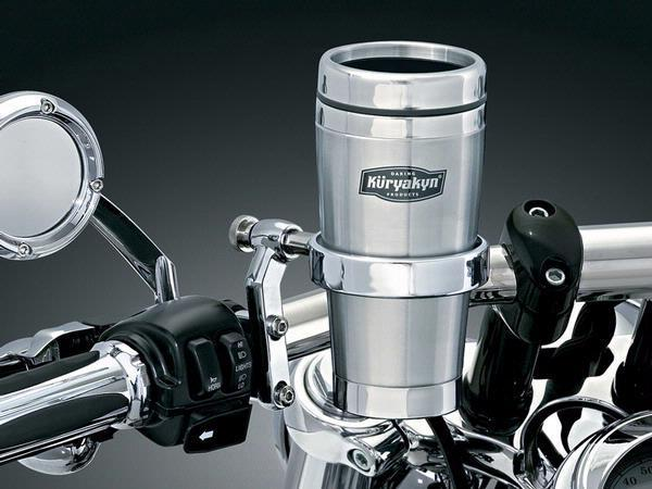 Porte gobelet universel avec thermos pour moto kuryakyn drink holder with mug 1463 for Porte telephone moto