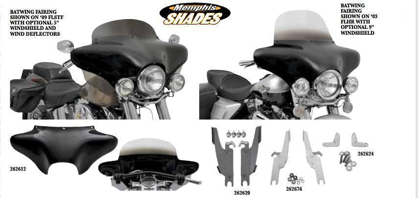 Pare-Brise Batwing pour Harley Sportster 1200 Custom carenage